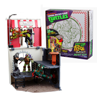 忍者神龟2破影而出 披萨盒公仔装备手办模型玩具套装