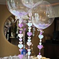 孩派 透明球波波球气球 宝宝百天儿童生日派对气球 结婚布置婚房 心形纸片