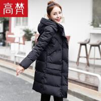 高梵时尚工装羽绒服女中长款新款韩版宽松加厚保暖冬季外套潮