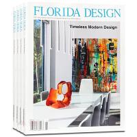 英文版 美国 FLORIDA DESIGN 杂志 订阅2020年或2019年 E10 佛罗里达州别墅豪宅室内软装设计杂