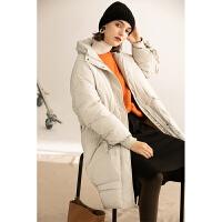 【下单领券立减120元】云上生活女装纯色气质保暖大衣冬款文艺休闲中长款羽绒服外套Y2267