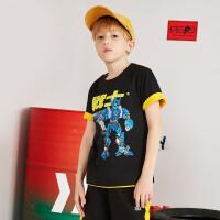 【夏清仓1件3折价:38.7】361度男童短袖T恤童装儿童休闲上衣2021夏季N52023201