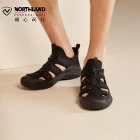 【顺丰包邮 乐享户外】 诺诗兰沙滩鞋新款男士夏季户外轻量透气软底低帮凉鞋子