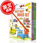 现货 英文原版 查德 斯凯瑞 繁忙的场所系列 套装 儿童绘本 幼儿认知 纸板书 Richard Scarry's Bu