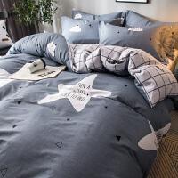 四件套全棉纯棉网红床单被套单人宿舍三件套北欧风床上用品 1.5m(5英尺)床 适用200*230cm被子