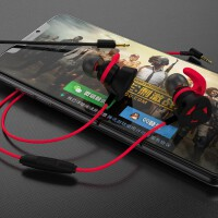 J26 手机游戏耳机(有线运动跑步双耳塞式 挂耳入耳颈挂脖式 通用头戴式重低音) 游戏运动HIFI耳机可拆麦