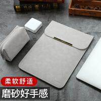 适用联想air14苹果macbook12笔记本11电脑包air13.3寸内胆pro15保护13皮套男