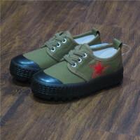 春秋新款儿童迷彩解放鞋防滑军训童鞋学生布鞋女童男童户外跑步鞋