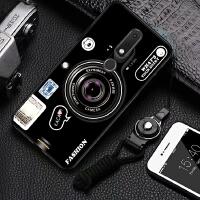 手机壳 Nokia X6保护套软壳TA-1099套磨砂全包个性防摔带钢化膜洛基亚X6支架