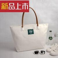 帆布女包大包包韩版文艺范简约单肩包休闲手提包布包