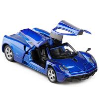 帕加尼车模 Huayra风神 声光回力车门可开 仿真合金汽车模型