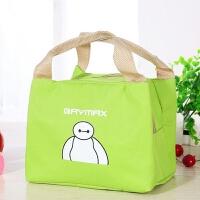 防水手提饭盒袋子小学生保温便当包袋带饭装午餐男女拎包布包