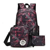 双肩包男女韩版高中学生书包初中大学生书包时尚潮流旅游旅行背包