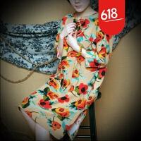 民族风女装棉麻唐装中式复古春夏装盘扣亚麻连衣裙改良旗袍上衣GX03 均码
