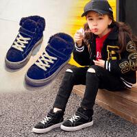 秋冬季儿童棉鞋保暖防滑女童运动鞋男童鞋子