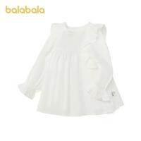 巴拉巴拉女童衬衣小童春季2021新款儿童衬衫上衣精致甜美宝宝上衣