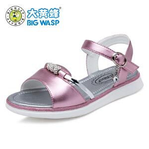 大黄蜂童鞋 夏季新款2017女童凉鞋 女童鞋子韩版儿童中大童公主鞋