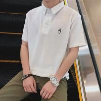 2018新款t恤男士短袖翻领体恤时尚��血夏款男装有领衬衫领Polo衫