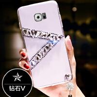 三星S6e手机壳SMG925F外套g925o软s69250曲屏轻薄g9520创意潮 三星S6 edge-钻石V款