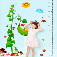 2张不同组合*发 儿童房装饰玩具自粘墙纸贴画宝宝卧室幼儿园可移除卡通身高贴
