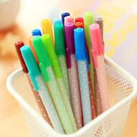 三年二班●韩国文具 可爱果冻笔 彩色中性笔 创意水笔 18色