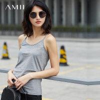 【到手价34元】Amii[极简主义]2018夏新品修身显瘦百搭标语吊带背心