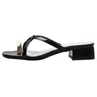 高跟拖鞋女外穿2019夏季新款韩版百搭时尚性感室外半拖粗跟凉拖夏季百搭鞋