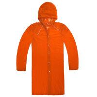 捷�N单人电动车雨衣演唱会旅行便携雨披男女长款 橙色