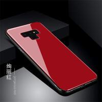 钢化玻璃防摔三星note9手机壳三星S10保护套s10plus个性创意男女S10Lite潮钢化玻 红色 note9