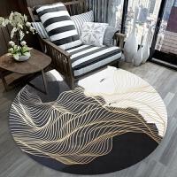 简约现代地毯客厅茶几北欧书房卧室床边吊篮电脑椅圆形垫 浅灰色 W01