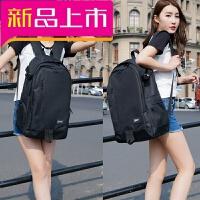 双肩包女韩版 运动休闲旅行背包双肩包大容量 中学生书包男