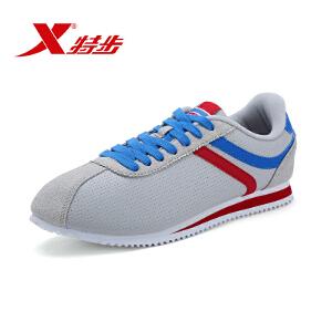 特步男鞋小白鞋男女板鞋时尚舒适轻便学生休闲鞋情侣运动鞋子985119323397