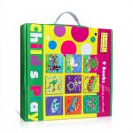 可点读 Child's Play 英语儿歌洞洞书第1辑9册礼盒装 英文原版幼儿启蒙英语童谣廖彩杏书单 儿童科普益智早教