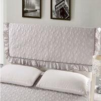 御目 床头罩 布艺皮床床头罩子夹棉床头套纯棉全棉简约纯色防尘保护套满额减限时抢礼品卡家居用品