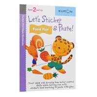 【首页抢券300-100】Kumon Let's Sticker & Paste Food Fun 公文式教育 贴一贴食