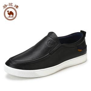 骆驼牌男鞋 舒适乐福鞋休闲鞋套脚日常休闲板鞋耐磨
