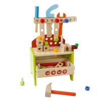 木制多功能工具台宝宝修理工具箱 儿童早教过家家益智玩具