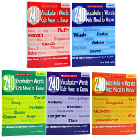 英文原版240 Vocabulary Words Kids Need to Know Grade1-6合售学乐出版 孩