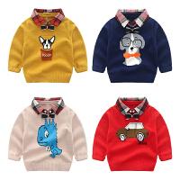 儿童毛衣秋季假两件针织衫宝宝外套童装春秋男童线衣秋装