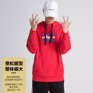 森马潮牌GLEMALL 卫衣男说唱嘻哈风潮KR个性兜帽衫连帽卫衣套头衫