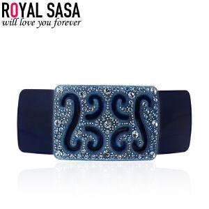 皇家莎莎RoyalSaSa韩版头饰时尚配饰品 弹簧夹扎马尾顶夹人造水晶发夹发卡发饰-复古宫廷