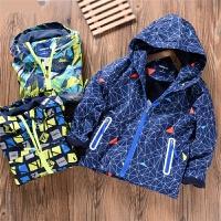儿童装外防风防雨软壳冲锋衣户男童秋季连帽外套