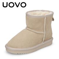 UOVO新款儿童雪地靴保暖棉靴子加绒冬季靴 蒂亚