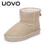 【1件2.5折价:39元】UOVO新款儿童雪地靴保暖棉靴子加绒冬季靴 蒂亚