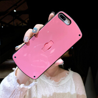 苹果x手机壳带支架7plus自带隐形指环扣一体8p简约纯侣款6sp新款女iPhonexr硅胶防摔软套