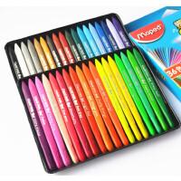 法国马培德24 36 48色三角蜡笔 儿童画笔安全 不粘手塑料蜡笔