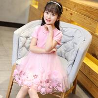 女童裙子夏装2018新款洋气短袖连衣裙纯棉儿童女孩衣服公主裙夏季