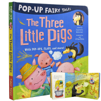 Pop-Up The Three Little Pigs 三只小猪盖房子 立体童话故事 幼儿英语绘本 英国小老虎出版社