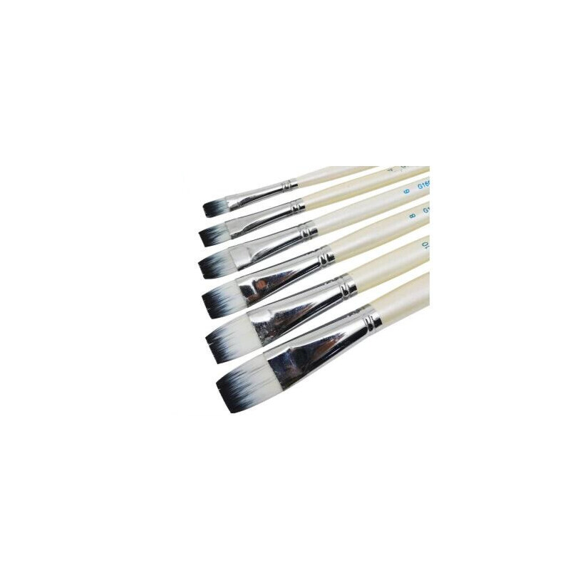 平峰尼龙丙烯画笔马利G1606A 尼龙油画笔6支装 水粉笔