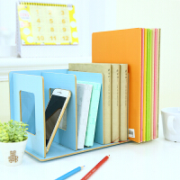 三年二班●创意木质DIY桌面收纳盒 杂志书籍整理书架办公置物架子